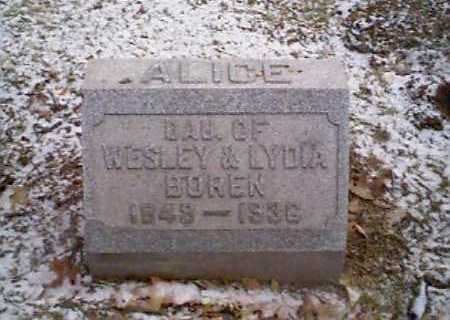 BOREN, ALICE - Montgomery County, Ohio | ALICE BOREN - Ohio Gravestone Photos