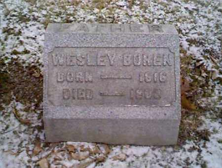BOREN, WESLEY - Montgomery County, Ohio   WESLEY BOREN - Ohio Gravestone Photos