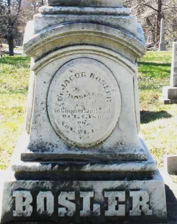 BOSLER, JACOB M.D. - Montgomery County, Ohio   JACOB M.D. BOSLER - Ohio Gravestone Photos