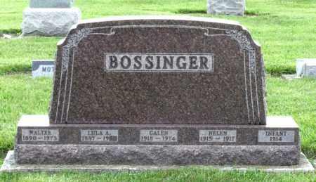 BOSSINGER, LULA A. - Montgomery County, Ohio | LULA A. BOSSINGER - Ohio Gravestone Photos