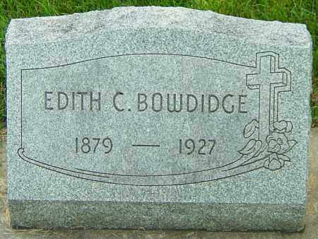 BUGDEN BOWDIDGE, EDITH CLARA - Montgomery County, Ohio | EDITH CLARA BUGDEN BOWDIDGE - Ohio Gravestone Photos