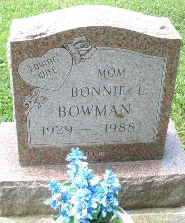 BOWMAN, BONNIE L. - Montgomery County, Ohio | BONNIE L. BOWMAN - Ohio Gravestone Photos