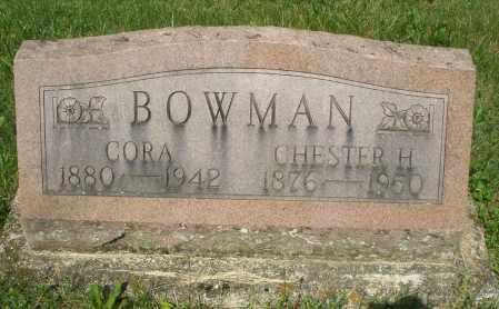 BOWMAN, CORA - Montgomery County, Ohio   CORA BOWMAN - Ohio Gravestone Photos