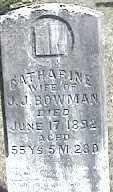 BOWMAN, CATHARINE - Montgomery County, Ohio   CATHARINE BOWMAN - Ohio Gravestone Photos