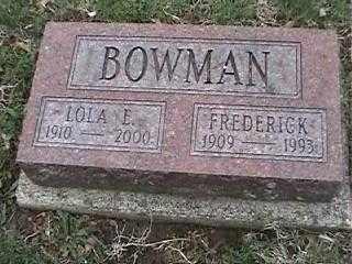 BOWMAN, FREDERICK - Montgomery County, Ohio | FREDERICK BOWMAN - Ohio Gravestone Photos
