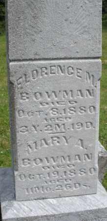 BOWMAN, MARY A. - Montgomery County, Ohio | MARY A. BOWMAN - Ohio Gravestone Photos