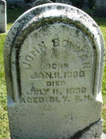 BOWMAN, JOHN - Montgomery County, Ohio   JOHN BOWMAN - Ohio Gravestone Photos