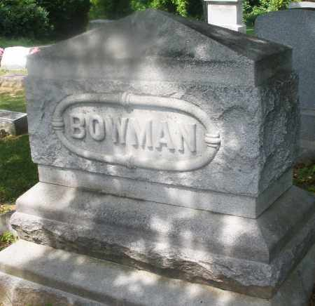 BOWMAN, MONUMENT - Montgomery County, Ohio | MONUMENT BOWMAN - Ohio Gravestone Photos