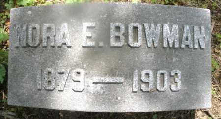 BOWMAN, NORA E. - Montgomery County, Ohio | NORA E. BOWMAN - Ohio Gravestone Photos