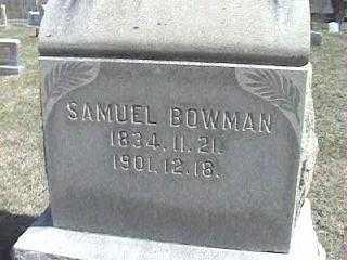 BOWMAN, SAMUEL - Montgomery County, Ohio | SAMUEL BOWMAN - Ohio Gravestone Photos