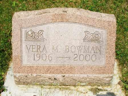 BOWMAN, VERA M. - Montgomery County, Ohio   VERA M. BOWMAN - Ohio Gravestone Photos