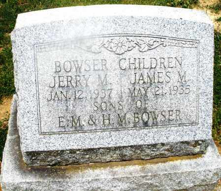 BOWSER, JAMES M. - Montgomery County, Ohio | JAMES M. BOWSER - Ohio Gravestone Photos