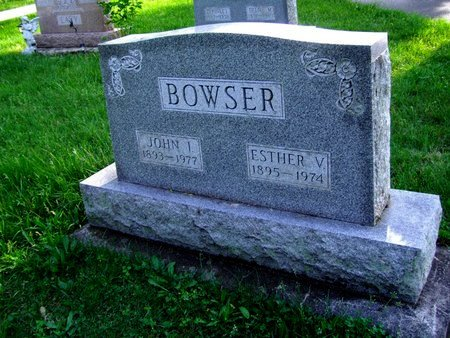 BOWSER, ESTHER V - Montgomery County, Ohio | ESTHER V BOWSER - Ohio Gravestone Photos
