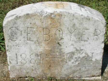 BOYER, C.E. - Montgomery County, Ohio   C.E. BOYER - Ohio Gravestone Photos