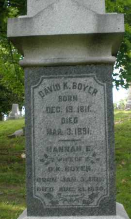 BOYER, HANNAH - Montgomery County, Ohio | HANNAH BOYER - Ohio Gravestone Photos