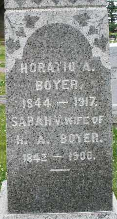 BOYER, HORATIO A. - Montgomery County, Ohio | HORATIO A. BOYER - Ohio Gravestone Photos