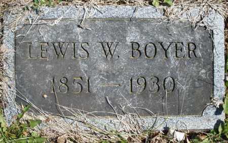 BOYER, LEWIS W. - Montgomery County, Ohio | LEWIS W. BOYER - Ohio Gravestone Photos