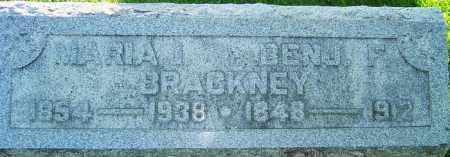 BRACKNEY BENNER, MARIA ISABELLE - Montgomery County, Ohio | MARIA ISABELLE BRACKNEY BENNER - Ohio Gravestone Photos