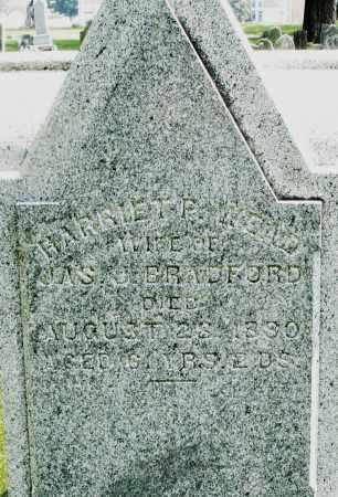 BRADFORD, HARRIET - Montgomery County, Ohio | HARRIET BRADFORD - Ohio Gravestone Photos