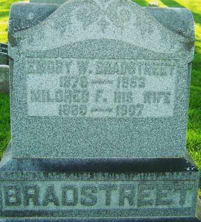 MANUEL BRADSTREET, MILDRED FAYNE - Montgomery County, Ohio | MILDRED FAYNE MANUEL BRADSTREET - Ohio Gravestone Photos