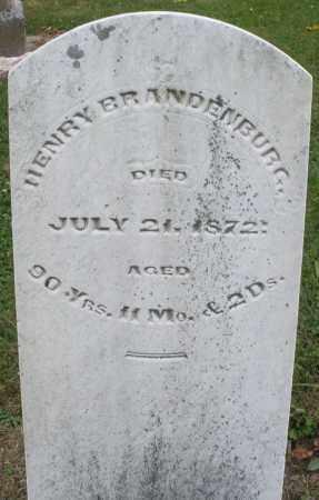 BRANDENBURG, HENRY - Montgomery County, Ohio | HENRY BRANDENBURG - Ohio Gravestone Photos