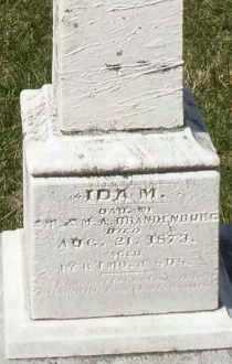 BRANDENBURG, IDA M. - Montgomery County, Ohio   IDA M. BRANDENBURG - Ohio Gravestone Photos