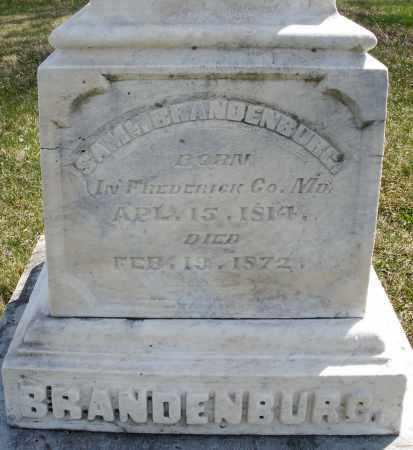 BRANDENBURG, SAMUEL - Montgomery County, Ohio   SAMUEL BRANDENBURG - Ohio Gravestone Photos