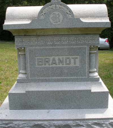 BRANDT, MONUMENT - Montgomery County, Ohio | MONUMENT BRANDT - Ohio Gravestone Photos