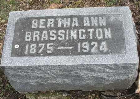 BRASSINGTON, BERTHA ANN - Montgomery County, Ohio | BERTHA ANN BRASSINGTON - Ohio Gravestone Photos