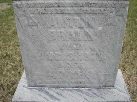 BRAUN, ANTON - Montgomery County, Ohio | ANTON BRAUN - Ohio Gravestone Photos