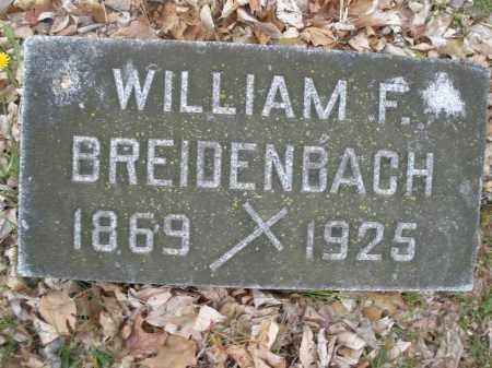BREIDENBACH, WILLIAM F. - Montgomery County, Ohio | WILLIAM F. BREIDENBACH - Ohio Gravestone Photos