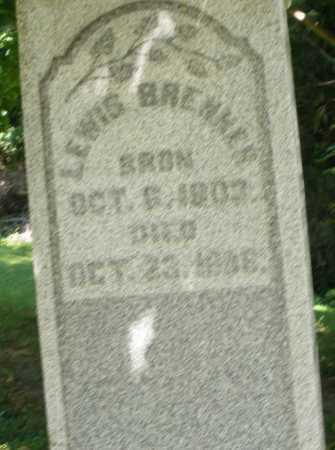 BRENNER, LEWIS - Montgomery County, Ohio   LEWIS BRENNER - Ohio Gravestone Photos