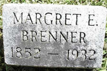 BRENNER, MARGRET E. - Montgomery County, Ohio | MARGRET E. BRENNER - Ohio Gravestone Photos