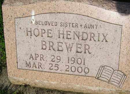 HENDRIX BREWER, HOPE - Montgomery County, Ohio   HOPE HENDRIX BREWER - Ohio Gravestone Photos