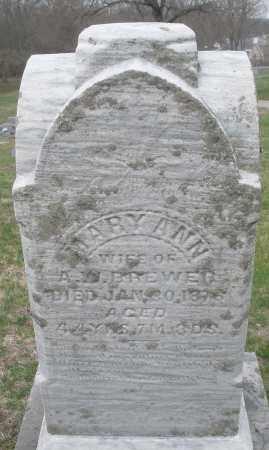 BREWER, MARY ANN - Montgomery County, Ohio   MARY ANN BREWER - Ohio Gravestone Photos
