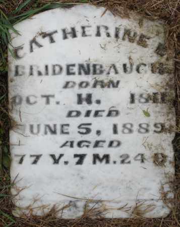 BRIDENBAUGH, CATHERINE - Montgomery County, Ohio | CATHERINE BRIDENBAUGH - Ohio Gravestone Photos