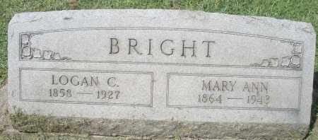 BRIGHT, MARY ANN - Montgomery County, Ohio | MARY ANN BRIGHT - Ohio Gravestone Photos