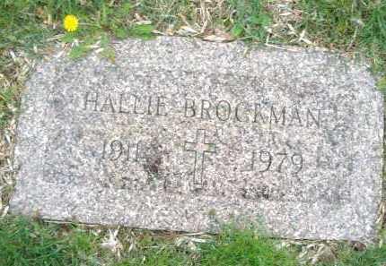 BROCKMAN, HALLIE - Montgomery County, Ohio | HALLIE BROCKMAN - Ohio Gravestone Photos