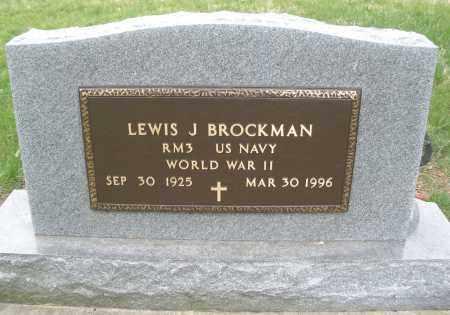BROCKMAN, LEWIS J. - Montgomery County, Ohio | LEWIS J. BROCKMAN - Ohio Gravestone Photos