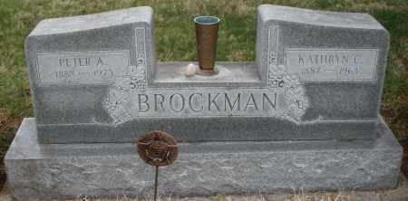 BROCKMAN, PETER A. - Montgomery County, Ohio   PETER A. BROCKMAN - Ohio Gravestone Photos