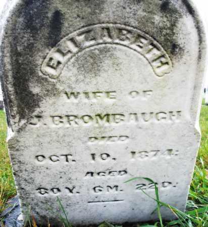 BROMBAUGH, ELIZABETH - Montgomery County, Ohio | ELIZABETH BROMBAUGH - Ohio Gravestone Photos