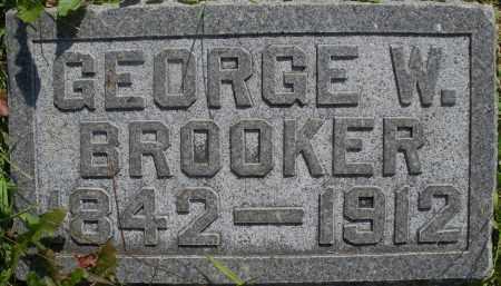 BROOKER, GEORGE W. - Montgomery County, Ohio | GEORGE W. BROOKER - Ohio Gravestone Photos