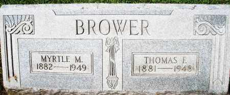 BROWER, MYRTLE M. - Montgomery County, Ohio | MYRTLE M. BROWER - Ohio Gravestone Photos