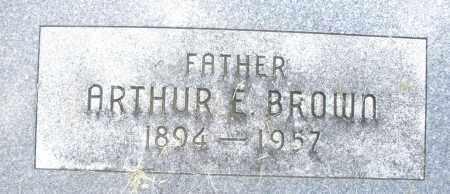 BROWN, ARTHUR E. - Montgomery County, Ohio | ARTHUR E. BROWN - Ohio Gravestone Photos