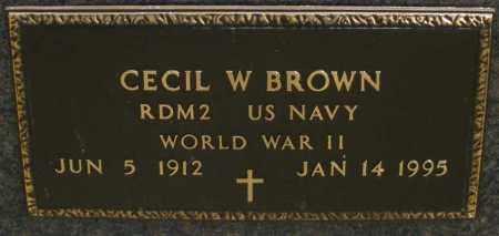 BROWN, CECIL W. - Montgomery County, Ohio   CECIL W. BROWN - Ohio Gravestone Photos