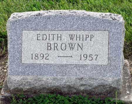 WHIPP BROWN, EDITH - Montgomery County, Ohio | EDITH WHIPP BROWN - Ohio Gravestone Photos