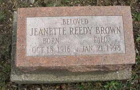 REEDY BROWN, JEANETTE - Montgomery County, Ohio   JEANETTE REEDY BROWN - Ohio Gravestone Photos