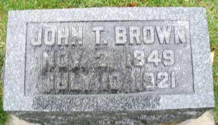 BROWN, JOHN T. - Montgomery County, Ohio | JOHN T. BROWN - Ohio Gravestone Photos