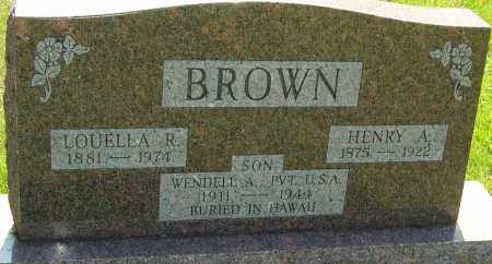 BROWN, LOUELLA REBECCA - Montgomery County, Ohio | LOUELLA REBECCA BROWN - Ohio Gravestone Photos
