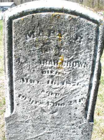 BROWN, MARY - Montgomery County, Ohio | MARY BROWN - Ohio Gravestone Photos